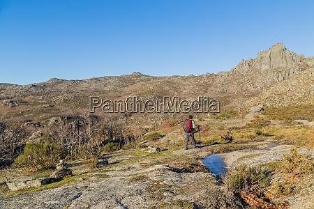 man hiking in geres