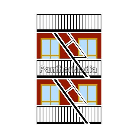 emergency fire ladder icon