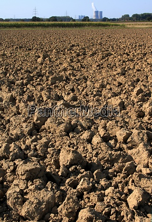 agricultural desert ploughed arable with big