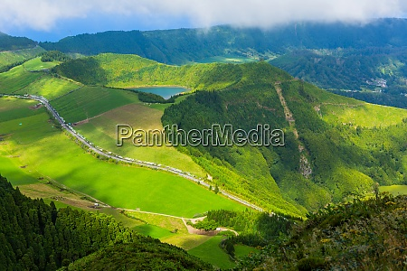 sete cidades from above