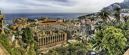 panoramic view of fontvieille district in