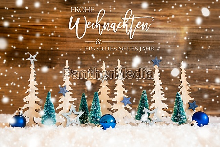 tree snowflakes blue star ball gutes