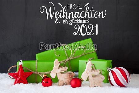 glueckliches 2021 means happy 2021 green