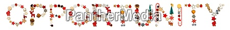 colorful christmas decoration letter building word