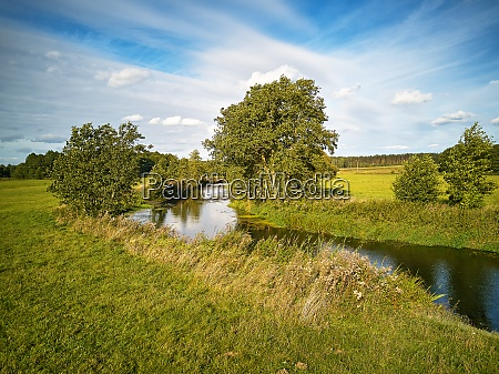 sunny september day summer background with