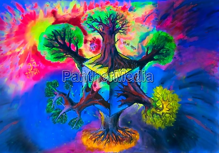 fantastic visionary art painted on