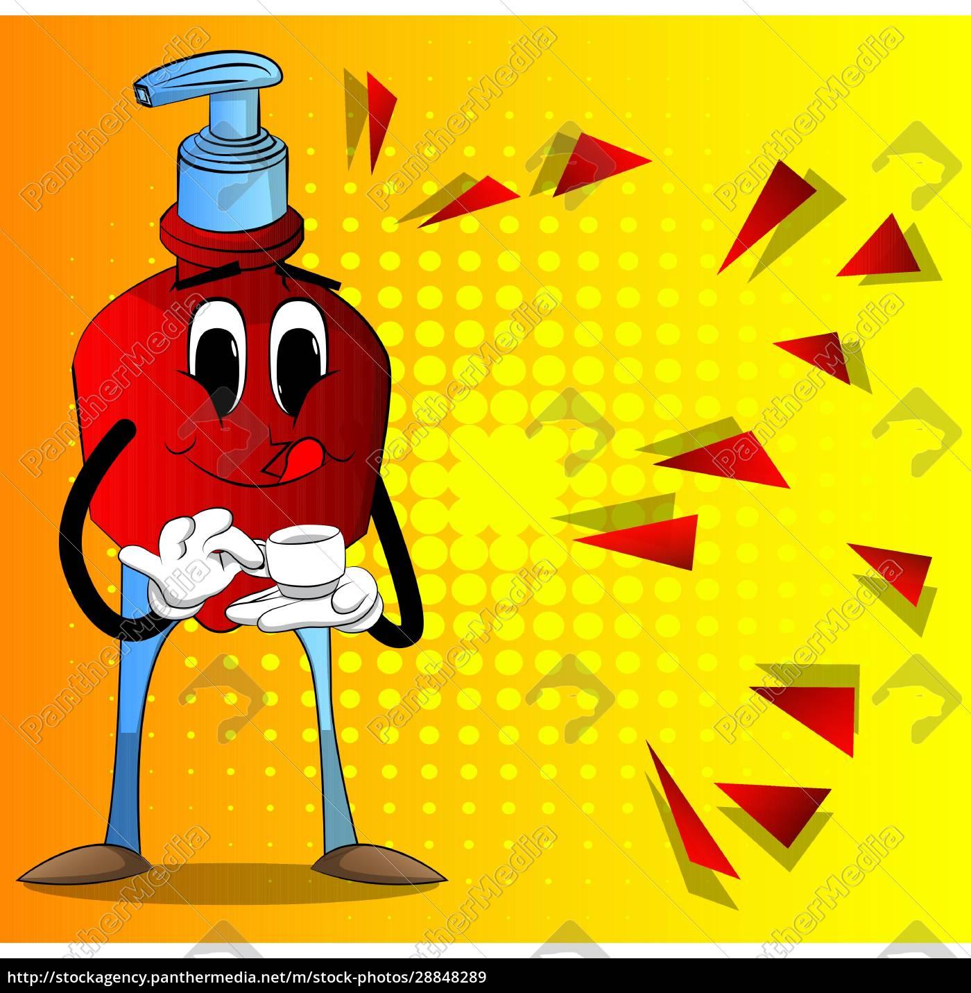 bottle, of, hand, sanitizer, gel, holding - 28848289