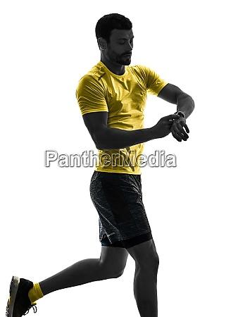 man runner running jogger jogging time