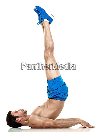 man fitness exercises isolated