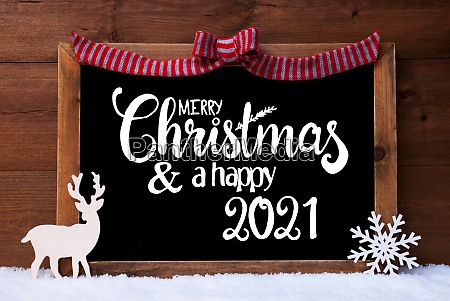 chalkboard christmas decoration snow deer merry