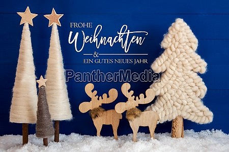 christmas tree moose snow gutes neues