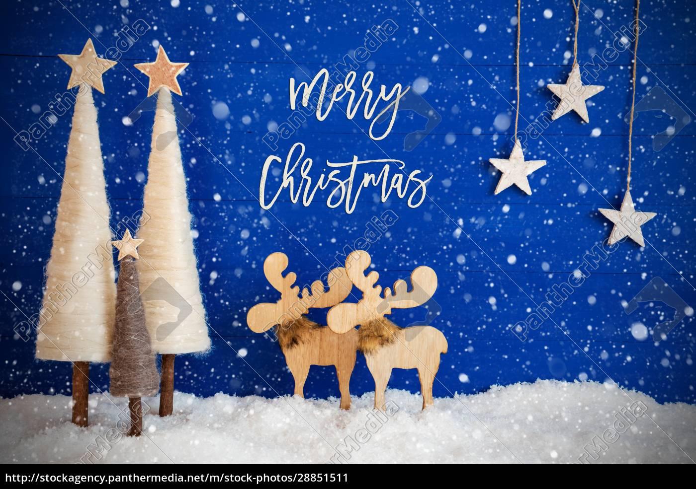 christmas, tree, , moose, , snow, , star, , text - 28851511