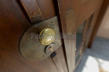 door with doorknob entrance