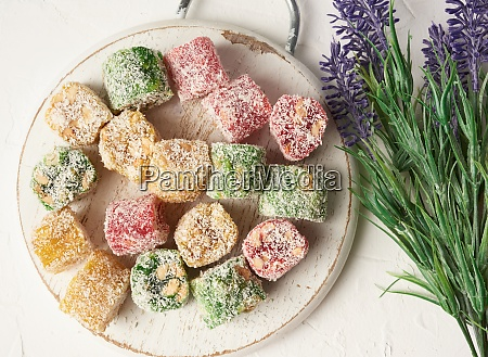 sweet turkish delight in coconut white