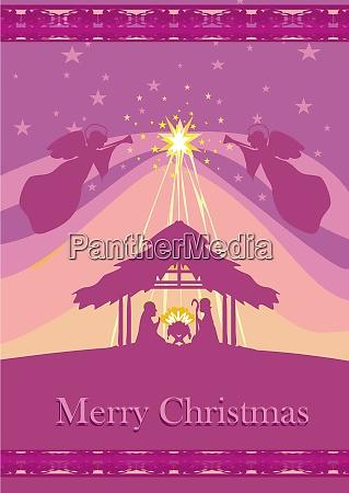 christmas religious nativity scene