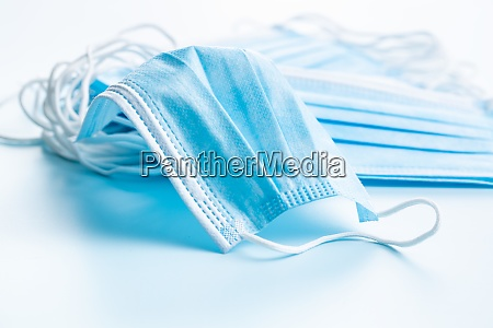 blue paper face masks corona virus