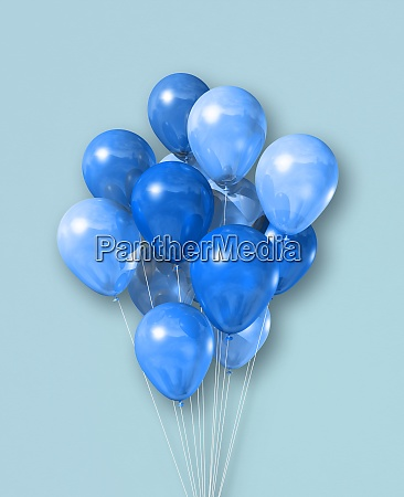 cyan air balloons group on a