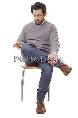 casual man on a chair