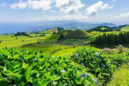 beautiful landscape in azores