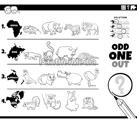 odd one out animal picture game