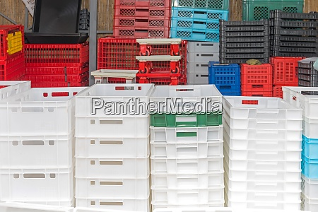 plastic crates selection