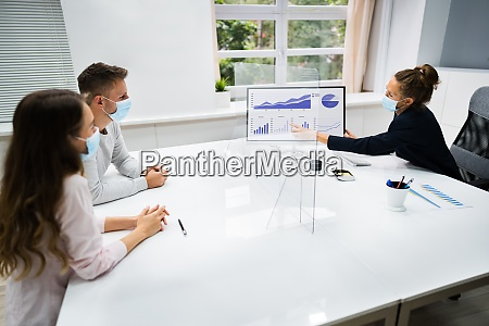 young family couple meeting financial advisor