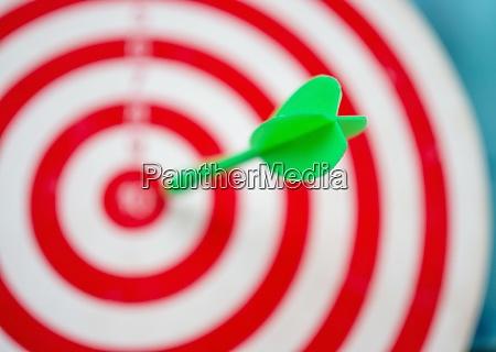 green arrow strikes center of goal