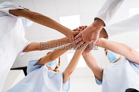 nurse and doctor team meeting collaboration