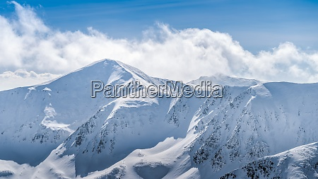view from kasprowy wierch at mountain