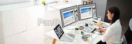 graphic designer artist working