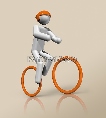 cycling mountain bike 3d icon olympic