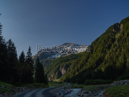 view of a snowcapped mountain at
