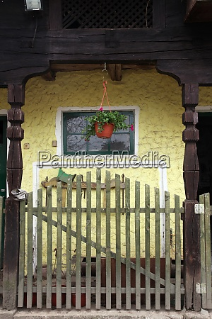 detail of old wooden farmhouse