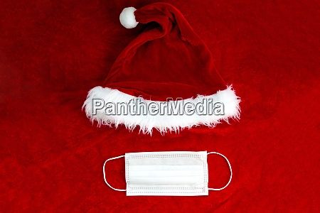 santa claus red hat with medical