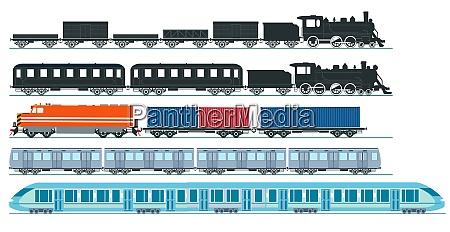 express train freight train steam locomotive