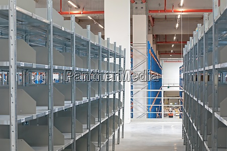 empty shelving system