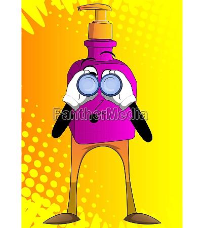 bottle of hand sanitizer gel looking