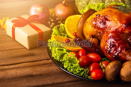 thanksgiving baked turkey or chicken and