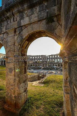 sunset at te romanian arena of