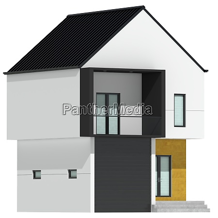 3d rendering of modern cozy house