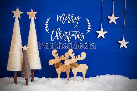 christmas tree moose snow star text