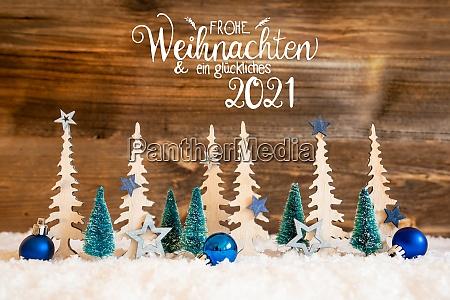 christmas tree snow blue star ball