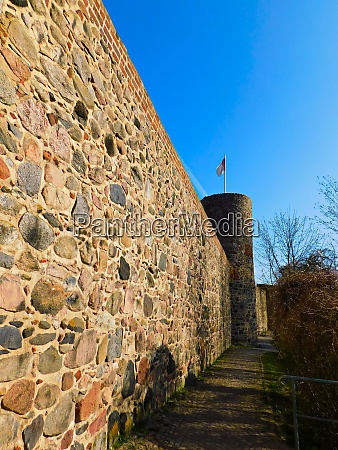 historic city wall from the middle