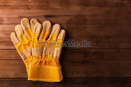 yellow safety protective gloves