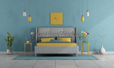 modern pastel colors master bedrrom