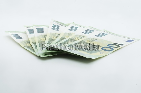 one hundred euro banknote business and