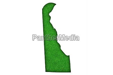 map of delaware on green felt