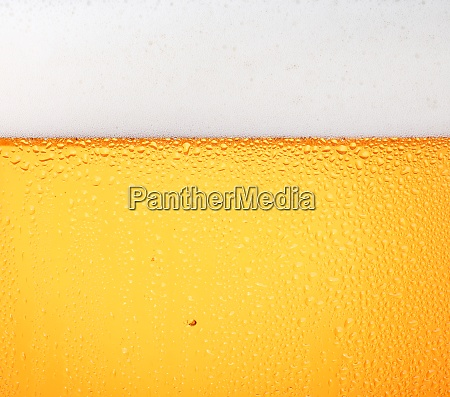 close up background of beer with