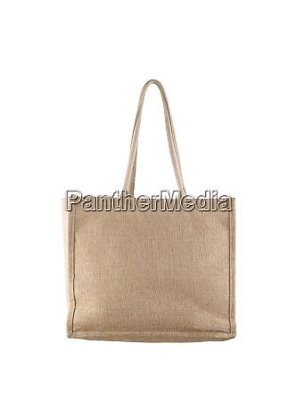 jute shopping bag isolated on white