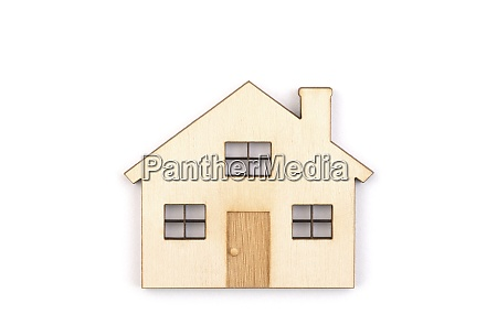 wooden house isolated on white background